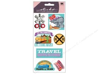 EK Sticko Stickers Metallic Train Travel