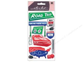 EK Sticko Stickers Metallic Road Trip