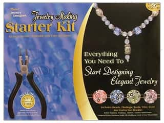 Finishes Beading & Jewelry Making Supplies: Darice Jewelry Designer Kits Making Starter Box