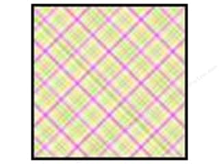 Doodlebug Paper 12x12 Plaid Pink Lemonade (25 sheets)