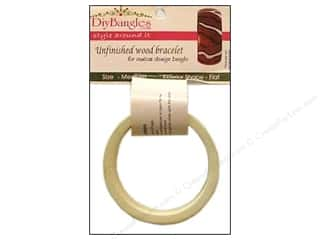 "DIY Ready To Decorate Bangle Wood Flat 1"" Medium"