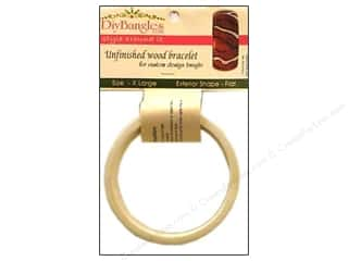 DIY Ready To Decorate Bangle Wood Flat 1&quot; XLarge