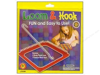 Family Yarn & Needlework: Pepperell Weaving Looms Loom & Hook Set