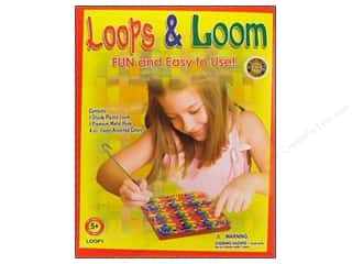 Pepperell Braiding Co. Kids Crafts: Pepperell Weaving Looms Loops & Loom Kit