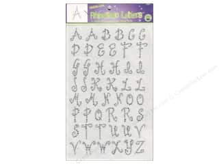 ABC & 123 Clear: Rhinestud Iron-On Letters by Dritz 1 in. Clear
