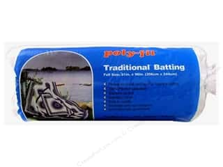 "Batting: Fairfield Batting Poly Fil Traditional 81""x 96"""