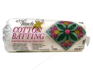 "Cotton batting: Fairfield Batting Soft Touch Cotton White 45""x 60"""