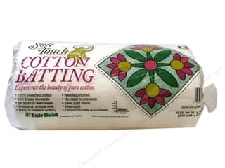 "Cotton batting: Fairfield Batting Soft Touch Cotton White 90""x 108"""