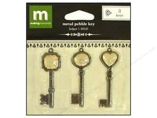 Making Memories Metal Shapes Keys Pebble Black