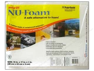 Fairfield Poly Fil Nu Foam 15&quot;x 17&quot;x 1&quot; Pre Cut