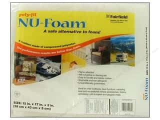 Fairfield Poly Fil Nu Foam 15&quot;x 17&quot;x 2&quot; Pre Cut