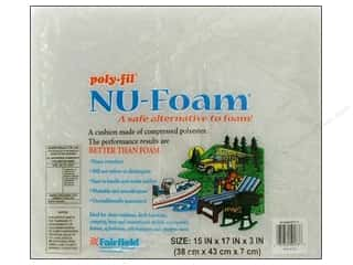 Fairfield Poly Fil Nu Foam 15&quot;x 17&quot;x 3&quot; Pre Cut