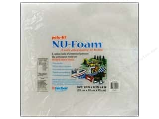 Fairfield Poly Fil Nu Foam 22&quot;x 22&quot;x 4&quot; Pre Cut