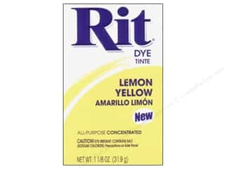 Rit Dye Powder: Rit Dye Powder 1 1/8 oz Lemon Yellow