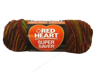 Clearance TLC Essentials Yarn: Red Heart Super Saver Yarn Cherrycola 5 oz.