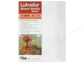 Fabric 1 Sheet: C&T Publishing Lutradur Mixed Media Sheets 8 1/2 x 11 in. 10 pc. Assorted