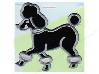 Wrights Applique Iron On X Large Black Poodle