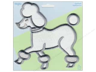 Wrights Applique Iron On X Large White Poodle
