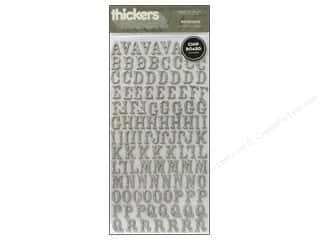 Plus paper dimensions: American Crafts Thickers Alphabet Stickers Rockabye Glitter Silver