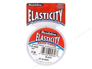 Elastic Craft & Hobbies: Beadalon Elasticity Bead Cord 1.0 mm (.039 in.) Black 5 m (16.4 ft.)