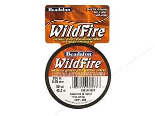 Beadalon Needles: Beadalon Wildfire Bead Thread .15mm Green 50yd