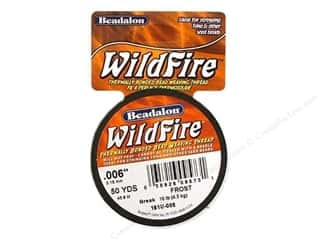 Beadalon Wildfire Bead Thread: Beadalon Wildfire Bead Weaving Thread .15mm Frost 50yd