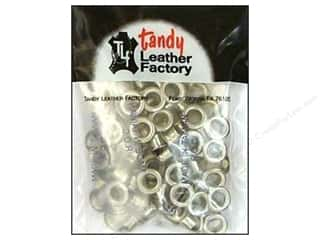 "Leather Factory Hardware Eyelet 1/4"" Nickel 100pc"