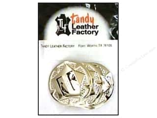 "leather factory: Leather Factory Concho Nkl Rnd w/Star 1"" 10pc"