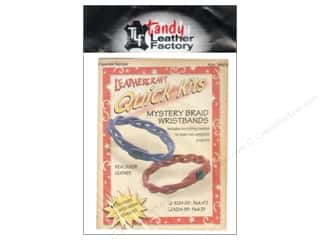 leather factory: Leather Factory Quick Kit Mystery Braid Wristband