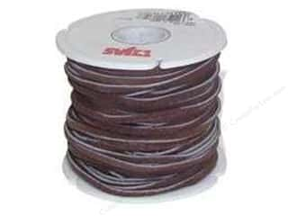 "Chains Brown: Leather Factory Suede Lace 1/8""x 25yd Dark Brown (25 yards)"