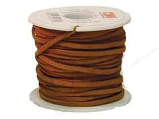 "Leather Supplies Jewelry Making: Leather Factory Suede Lace 1/8""x 25yd Spool Light Rust (25 yards)"