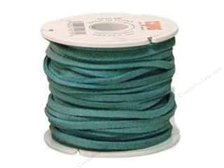 "leather factory jewelry: Leather Factory Suede Lace 1/8""x25yd Turquoise (25 yards)"
