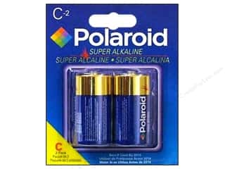 Batteries: Polaroid Super Alkaline Batteries Super C 2pc
