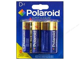 Batteries: Polaroid Super Alkaline Batteries Super D 2pc
