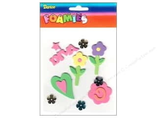 Clearance Darice Foamies Sticker: Darice Foamies Sticker Diva &amp; Flowers
