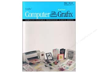 "Grafix Computer Transparent Film Ink Jet 8.5""x 1"""