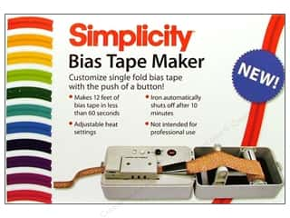 Simplicity Trim Clearance: Simplicity Bias Tape Maker Electric