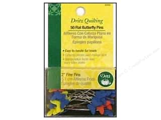 flat head pins: Flat Butterfly Pins by Dritz Quilting 2 in. Fine 50pc.
