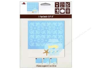 Clearance Plaid Paper Stencils: Plaid Paper Stencils 6.75&quot;x 8&quot; Fish Silhouette