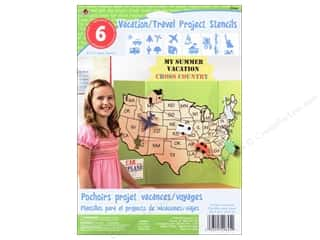 "Kids Crafts Vacations: Plaid Stencil Paper 8""x 10"" Kids Vacation/Travel"