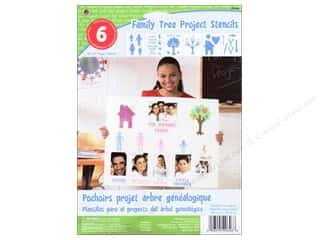 Plaid Paper Stencils 8&quot;x 10&quot; Kids Family Tree