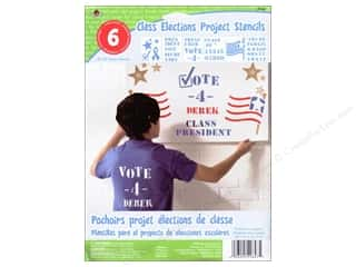 "Plaid Paper Stencils 8""x 10"" Kids Class Elections"