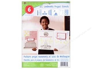 Clearance Plaid Paper Stencils: Plaid Paper Stencils 8&quot;x 10&quot; Kids D.C. Landmarks