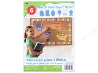"Plaid Paper Stencils 8""x 10"" Kids Bulletin Board"