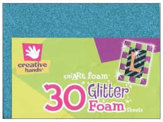 Fibre-Craft Foam Sheet Pack 4.5x6 Gltr Multi 30pc
