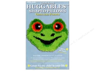 "Canvas Graph n' Latch Rug Canvas 3.75 mesh: M.C.G Textiles Latch Hook Kit Huggables Pillow 13""x 11"" Frog"