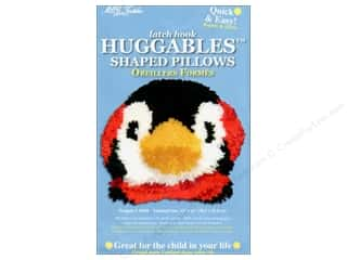 "Canvas Graph n' Latch Rug Canvas 3.75 mesh: M.C.G Textiles Latch Hook Kit Huggables Pillow 12""x 10"" Penguin"