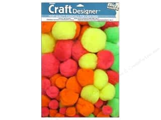 Pom Poms multi: Darice Pom Poms Assorted Size Multicolor 100 pc.