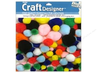 Pom Poms: Darice Pom Poms Assorted Size Multicolor 100 pc.