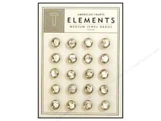 brads medium: American Crafts Elements Brads Med Jewel Silver